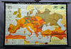 pull-down wall chart, geography, map, Europe younger Stone Age, history