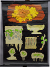 fantastic wall chart botany plants yellow wall lichen Jung Koch Quentell
