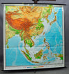 traditional rollable wall chart poster, geography, map, East and Southeast Asia