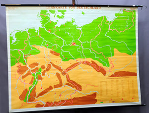 rollabel school map vintage wall chart Germany poster print teaching aid