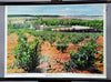 vintage poster rollable wall chart wine growing South Australia landscape