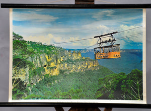 great rollable wall chart, ropeway, blue mountains, New South wales, Australia