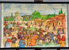 double-sided vintage medieval poster rollable wall chart crusadors knight hall