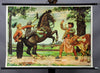 vintage pull-down wall chart poster fairy tale Hans in luck horse cow