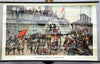 vintage rollable wall chart maritime deco history rebellion sailors Kiel 1918