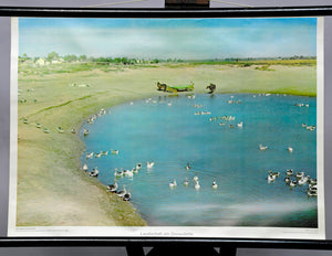 landscape at the Danube Delta, East Europe maritime wall chart decoration