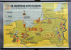 fantastic rollable map wall chart German Order Knights cultural state Prussia