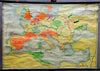 vintage rollable poster wall chart history map migration period 500 AD
