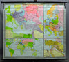 rollable wall chart geographical map First World War 1914-1918