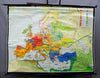 traditional rollable poster wall chart map history Germanic migration of peoples
