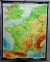 vintage rollable picture poster wall chart geography map France Benelux