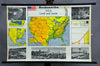 vintage wall chart picture poster North America USA land people landscape