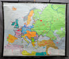 vintage poster rollable wall chart, geography, map, history, Europe 1871-1914