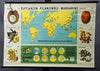 vintage rollable wall chart poster nutrition growing areas oil crops vegetable