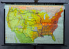 vintage poster wall chart map United States development 19th 20th centuries