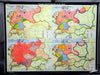 vintage pull down map Germany  20th century German history
