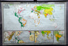 rollable world map history 17th century, 18th century