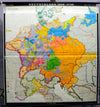 vintage pull down map Germany  1648-1739 German history Central Europe
