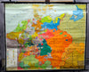 Vintage, pull down map, Germany,  17th century, history, historical map