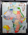 Vintage, pull down map, Africa, 19th and 20th century, African continent, African history