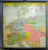 vintage German map history from 1273-1437 wall chart