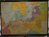 Hanseatic League history map rollable wall chart