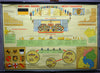 vintage wall chart German county Baden-Wuerttemberg government