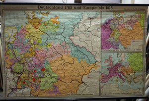 German European history rollable map wall chart 1789-1815