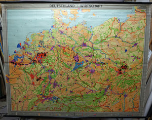 map poster German economy rollable wall chart