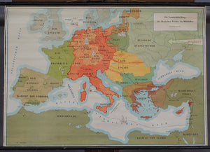 middle age history poster rollable wall chart map