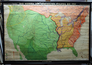 vintage map rollable history wall chart emergence of the United States