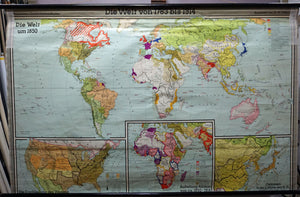 history world map 1783 – 1914 rollable wall chart poster