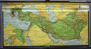 vintage rollable history map Alexander the Great wall chart