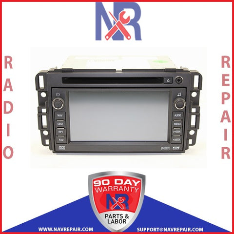 2010 2011 2012 GM Chevrolet GMC USB Denso Navigation Radio Repair Service - NavRepair.com - 1