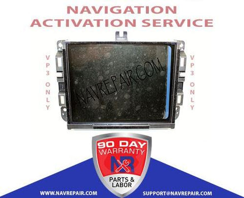 Uconnect 8.4A RA3 VP3 RJ3 NA CA MX JP ROW Navigation Activation Service - NavRepair.com