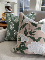 Clover Paisley Block Print Pillow