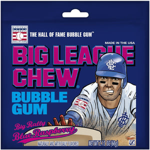 BIG LEAGUE CHEW Big Rally Blue Raspberry - 60g
