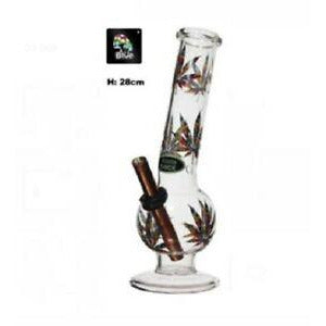 Medium Rasta Leaf Bubble Billy - 28cm