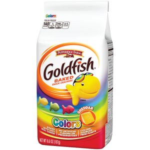 GOLDFISH Cheddar Rainbow Crackers - 187g