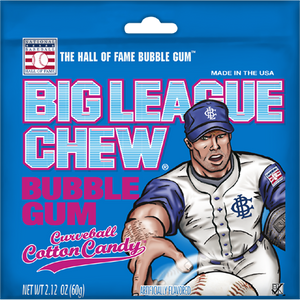 BIG LEAGUE CHEW Curveball Cotton Candy - 60g
