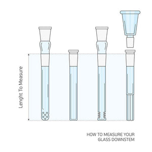 8cm Slit Diffusor Glass Stem - 14mm