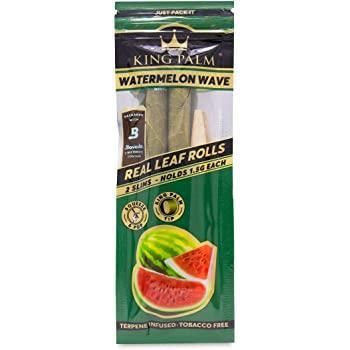KING PALM Pre Rolled Watermelon Wave Terp Palm Leaf - 2 Mini Rolls