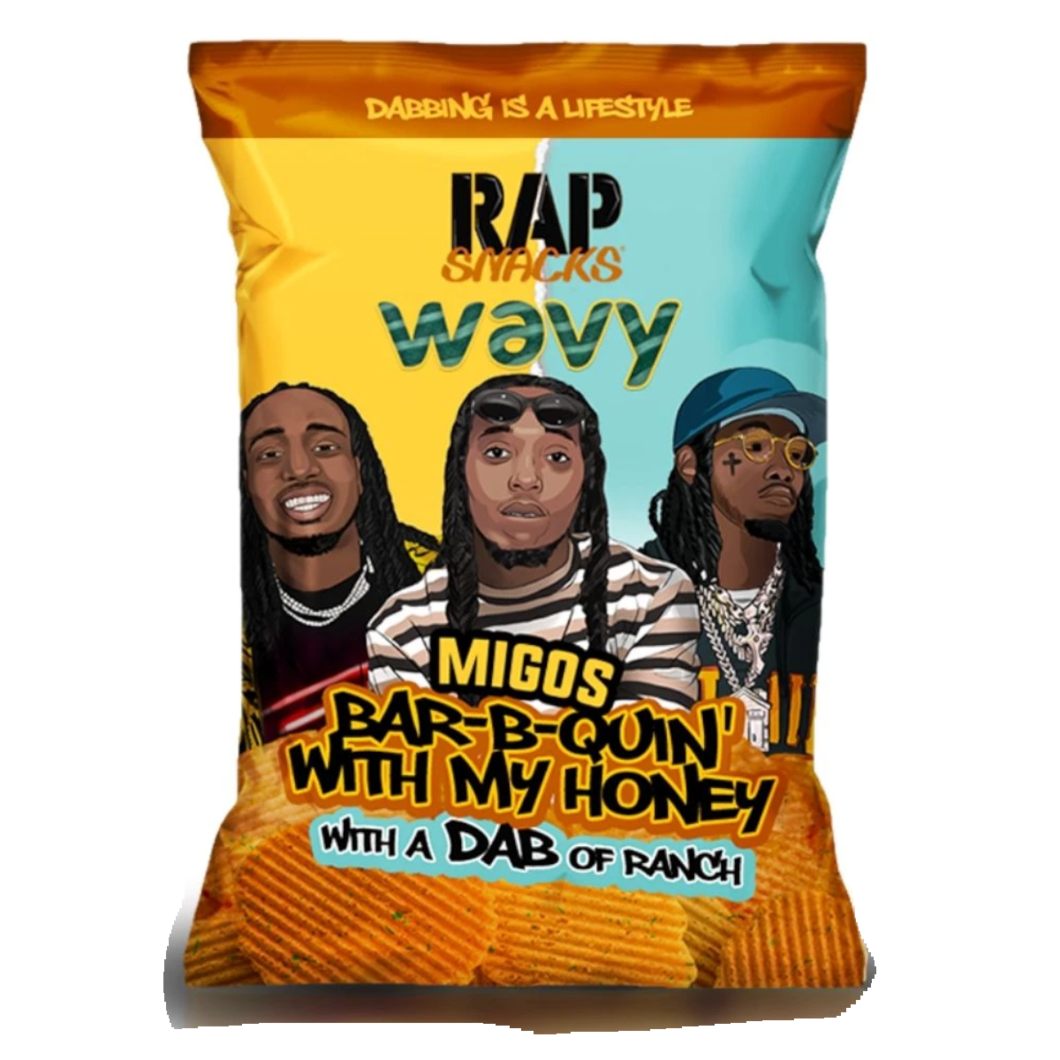 RAP SNACKS Migos BBQ Honey & Ranch - 78g