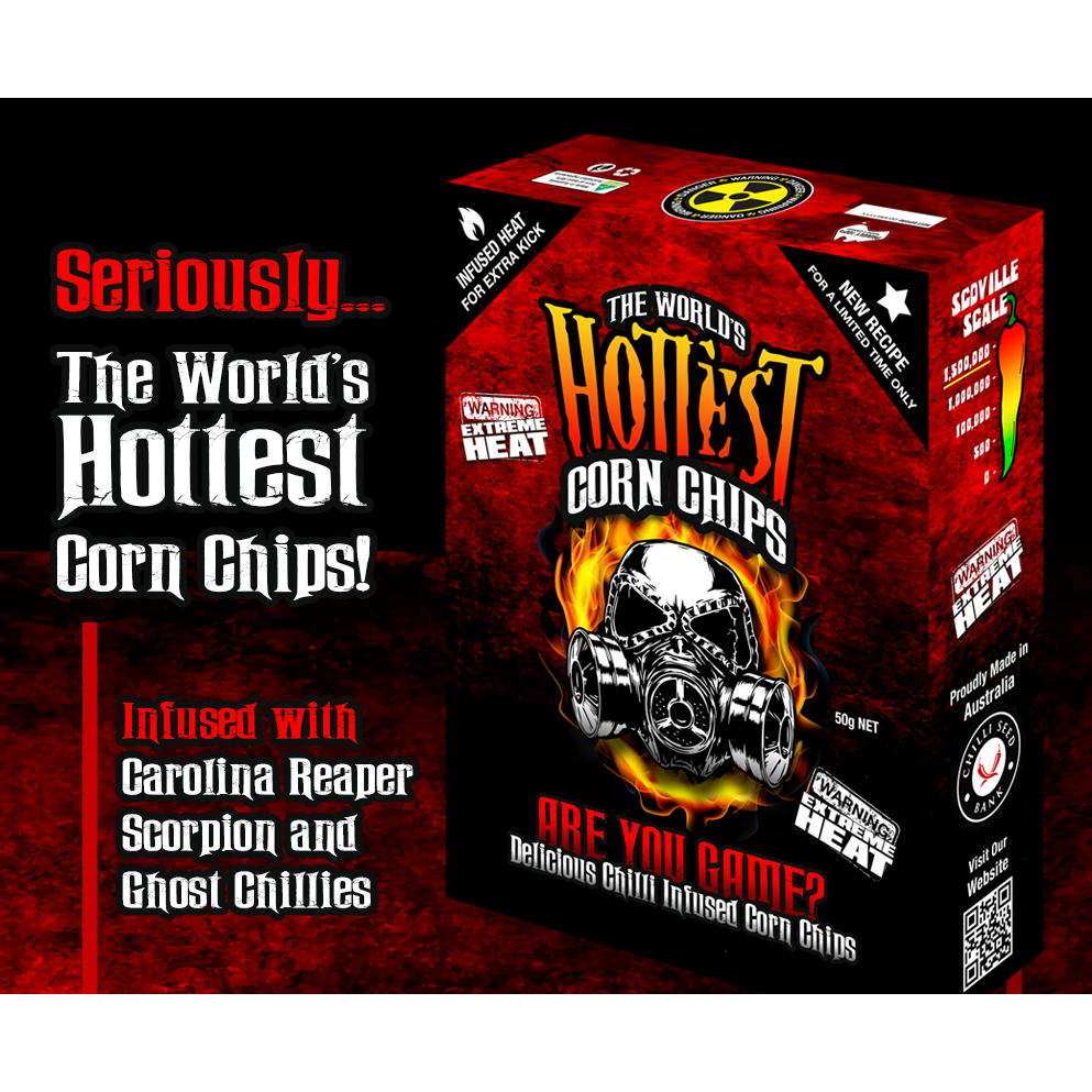 THE WORLDS HOTTEST Corn Chips - 50g