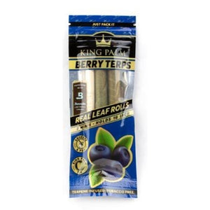 KING PALM Pre Rolled Berry Terp Palm Leaf - 2 Mini Rolls