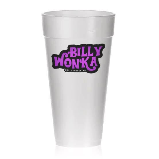 BILLY WONKA Foam Cups - 10 Pack