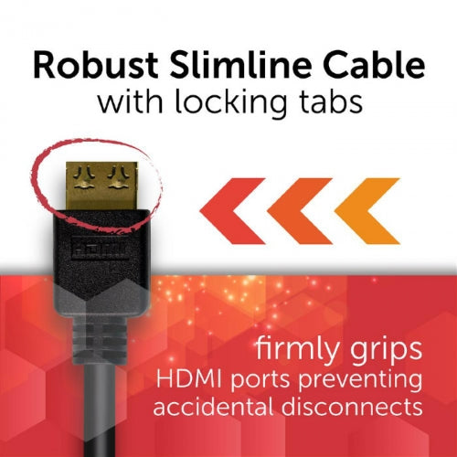 10m Flexi-Lock HDMI 2.0 18Gbs High Speed Ultra HD 4K Cable with Ethernet