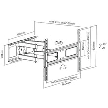 "Load image into Gallery viewer, BRATECK 37-70"" Solid Articulating Wall TV Mount"
