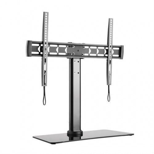 "Tempered Glass TV Desk Stand for 32""-55"" TV's"