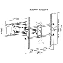 "Load image into Gallery viewer, BRATECK 50-90"" Super Solid Large Full-motion TV Wall Mount"